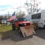 """The PA Veteran's Mobile Outreach van visited Daniel's Lawn & Garden in November 2015. They were on hand to help vets with information, claims, and more.  Daniel's also collected over 1000 of your """"warm hugs"""", sweaters and sweatshirts and such. It was a wonderful event!"""