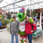 The Phillie Phanatic stopped by for the Warm Hugs for Vets campaign